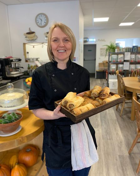 Vegan sausage rolls fresh out of the oven at Allison's Eatery in Bury St Edmunds Picture: ALLISON KN