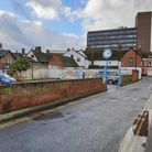 The plot of land, in the centre of Ipswich, provides 21 parking spaces Picture: ADAM HOWLETT