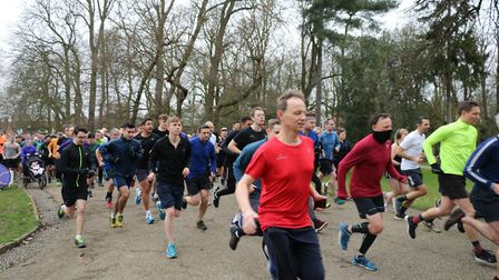 Ipswich parkrun was the biggest ever on a Saturday in Suffolk Picture: MARK KEMPTON