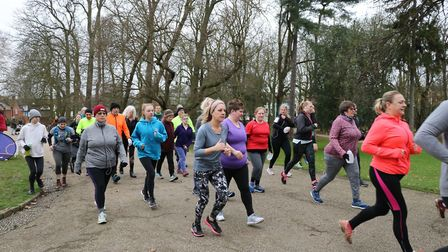 Runners joining in the Ipswich parkrun Picture: MARK KEMPTON