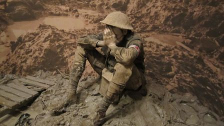 How it was for thousands.... Peter Corlett's Man in the Mud sculpture at the Australian War Memorial