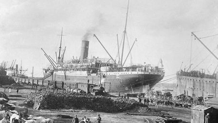 The Euripides in Alexandria, Egypt, during the First World War Picture: Denver Wood Wansey/AUSTRAL