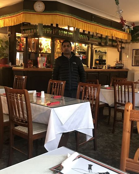 Chef Suman Chaulagain at the Selkirk Gurkha, a restaurant specialising in Indian and Nepalese cuisin