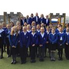 Pupils from the school's 'Rota Kids' group, who help raise money for a host of charitable causes Pic