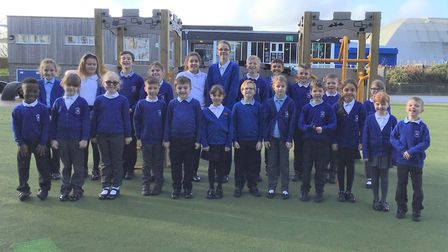 Pupils from Halifax Primary's School council Picture: HALIFAX PRIMARY SCHOOL