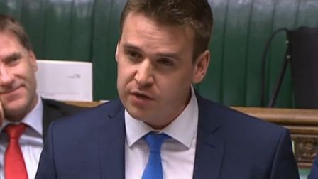Ipswich MP Tom Hunt in Parliament Picture: HOUSE OF COMMONS