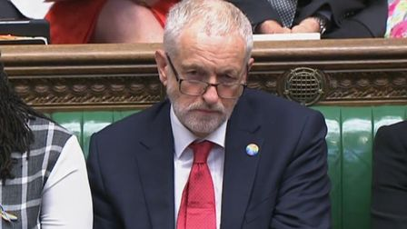 Labour party leader Jeremy Corbyn during Prime Minister's Questions