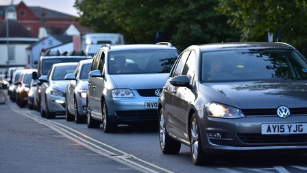 Gridlocked traffic on Star Lane, Ipswich, during Orwell Bridge closures is a common sight. Picture: