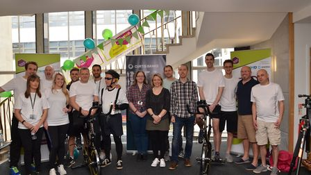 Curtis Banks' Ipswich office has selected Lighthouse as its charity of the year. Pictured on the bik
