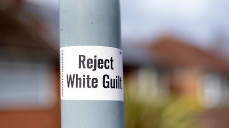 White supremacist messages have been spotted in and around Ipswich Picture: SARAH LUCY BROWN