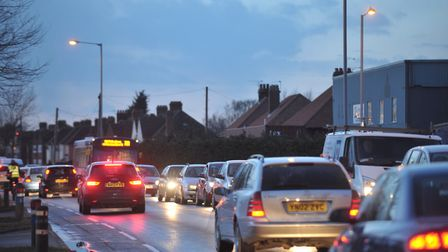 Ipswich gridlocked by an A14 closure. Picture: SARAH LUCY BROWN