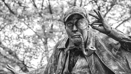Sherlock Holmes will be among the living statues coming to Ipswich Cornhill Picture: WARBLE ENTERTAI