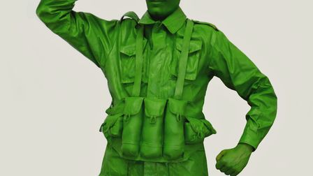 You can salute this toy soldier at the living statues event at Ipswich Cornhill Picture: WARBLE ENTE
