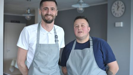 Owners of The Crescent Cafe in Felixstowe, Lewis Clarke and Daniel Ward Picture: SARAH LUCY BROWN