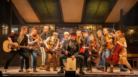 The cast of the New Wolsey Theatre's production of Once which is currently on a nationwide tour. It