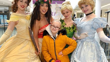 Hannah Smith meets the Princesses at last year's Hero Quest event. Picture: PAGEPIX