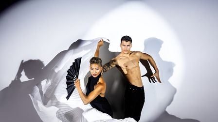 Strictly Come Dancing stars Karen Hauer and Gorka Marquez in Firedance. Picture Firedance.