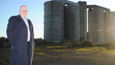 David Ellesmere at the former Ipswich Sugar Beat Factory when the borough's purchase was confirmed i
