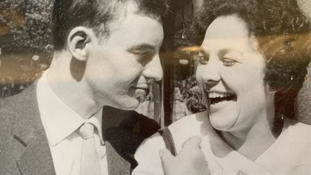 Dawn and Cedric Stanton, just married, at Chelsea Register Office Picture: FAMILY COLLECTION