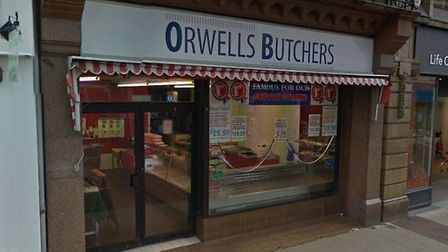 Orwells Butchers in Ipswich has closed down suddenly. Picture: GOOGLE MAPS
