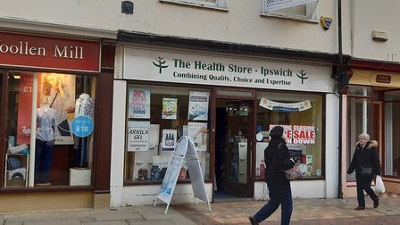 The Health Store - Ipswich in the Buttermarket has announced it is closing. Picture: JUDY RIMMER