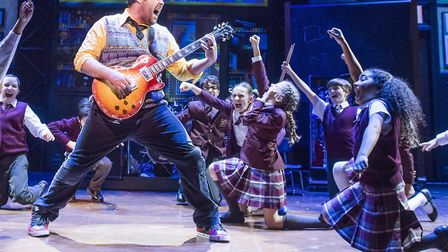 A scene from Andrew Lloyd-Webber's School Of Rock at the New London Theatre. The show is embarking o