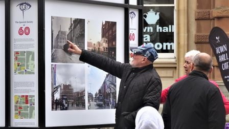 A new exhibition on the Cornhill has been proving very popular Picture: IPSWICH SOCIETY