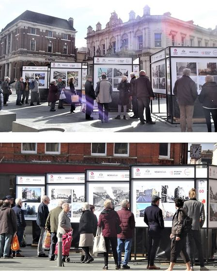 Crowds have been enjoying the exhibition on the Cornhill Picture: IPSWICH SOCIETY