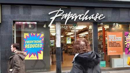 Paperchase in Ipswich has made further reductions in its closing-down sale Picture: JUDY RIMMER