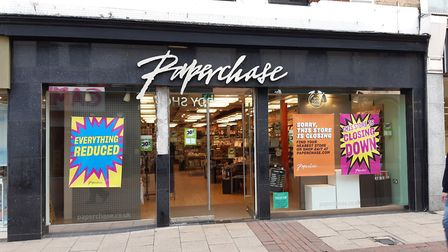 Paperchase has announced when its Ipswich store will close Picture: JUDY RIMMER