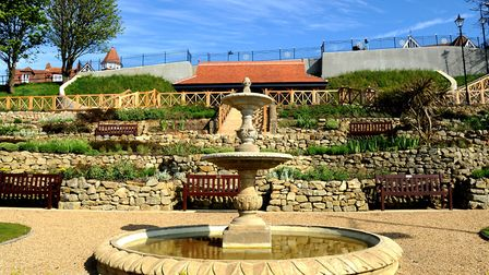 One of Felixstowe's restored seafront gardens in 2016 Picture: SIMON PARKER