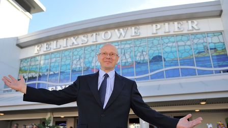 Felixstowe Pier operations manager Andrew Green at the opening of the revamped pier in 2017 Pi