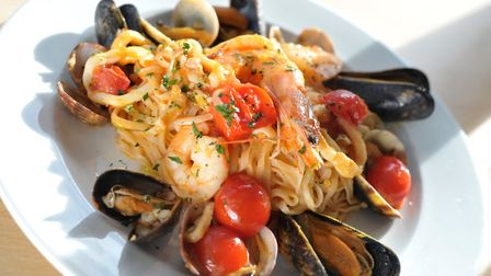 A mouthwatering offering at Felixstowe's new Italian restaurant, Alba Chiara Picture: SARAH LUCY