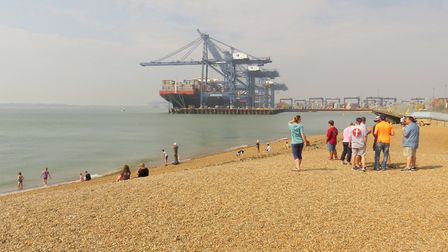 The Port of Felixstowe from the View Point Cafe Picture: JANICE POULSON