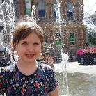 Aurora enjoying the fountains on the Cornhill last summer - but when will they be switched on this y