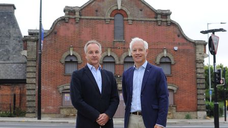 Julian and Mark Pertwee,developers of The Maltings in Ipswich Picture: SARAH LUCY BROWN