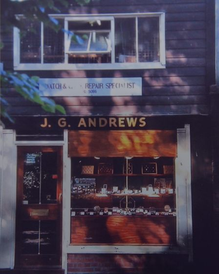 John Andrews celebrates 50 years of his business Andrews Jewellers in Ipswich. Byline: Sonya Duncan