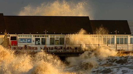 The seaside is often a peaceful place. In November 2007, at Southwold, the elements made their prese