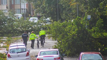 Almost like a scene from a disaster movie. This is the Nacton Road area of Ipswich in October, 2013