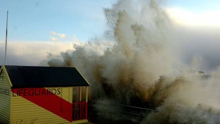 Wow. Southwold feels the force of nature in November, 2007 Picture: Simon Parker
