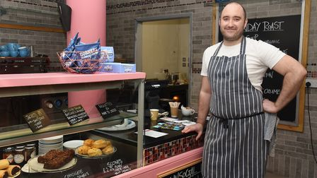 Richard Podd has transformed a former cafe into a new eatery 'On the huh', located down St Peters St