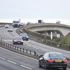The Orwell Bridge is now open after being shut for 19 hours Picture: GREGG BROWN
