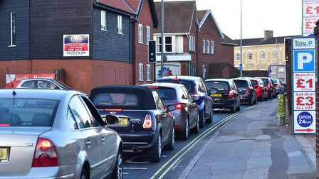 Gridlocked traffic in Star Lane, Ipswich. The task force will assess means of improving Ipswich traf