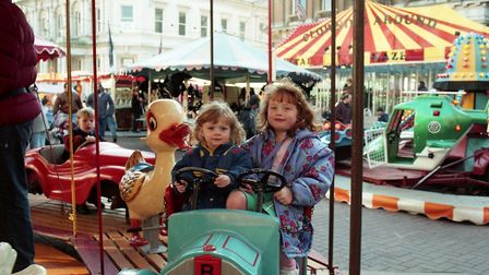 Children had fun on the rides set up for the Cornhill fair Picture: ARCHANT