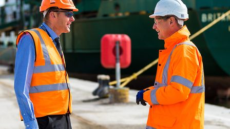 Andy Constable (left) ABP's head of operations in Ipswich and Adam Smith, eastern regional manager o