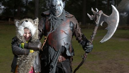 Leo meeting an Orc at the Ring Quest event Picture: SARAH LUCY BROWN
