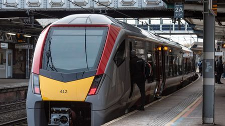 The first new Greater Anglia train operating on Suffolk routes out of Ipswich has gone into service
