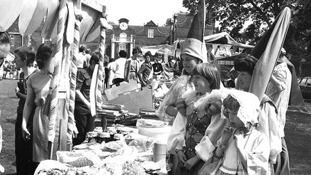 Some of the crafts stalls set up outside Christchurch Mansion Picture: ARCHANT