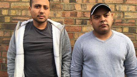 From left, Bruno Maximo and Milson Silva who worked as lorry drivers for Go Freight Picture: SARAH