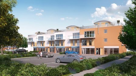 Work is now underway to construct nine new apartments and commercial units in Grange Farm, Kesgrave